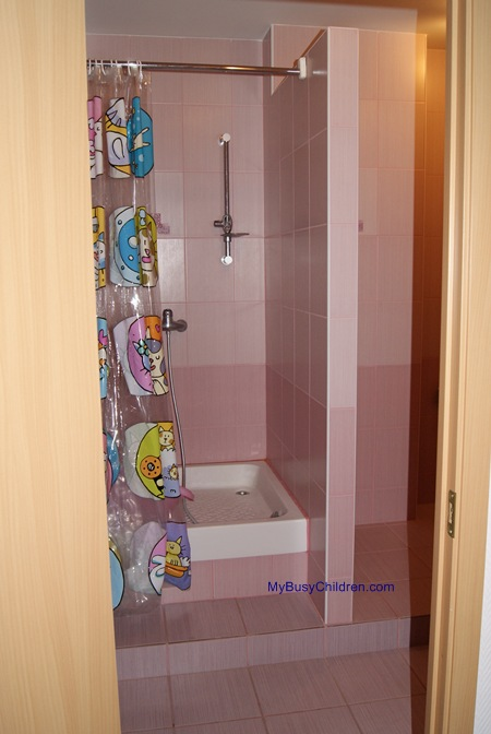 Shower in Mom and Baby Room in the Barnaul Airport (Siberia, Russia)