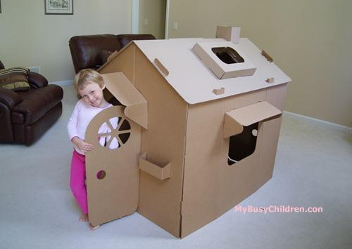 Children S Cardboard Playhouse My Busy Children